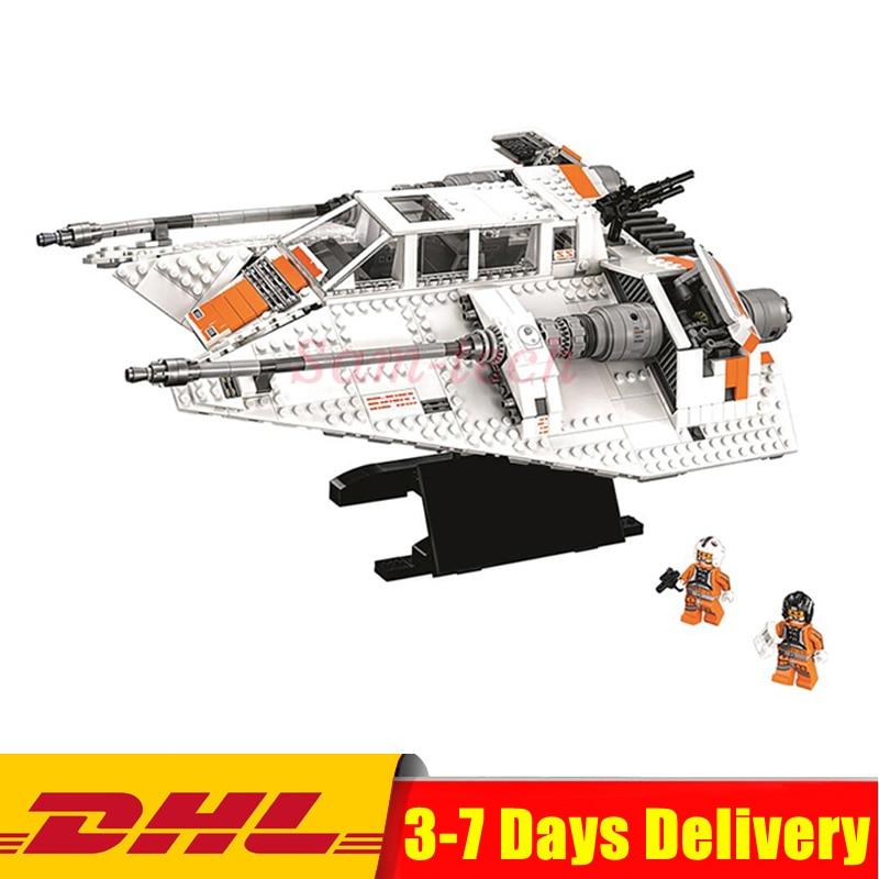 IN Stock Lepin 05084 1457Pcs Star Set Wars UCS Rebel Snowspeeder Model Building Kits Blocks Bricks For Compatible 10129 Toy