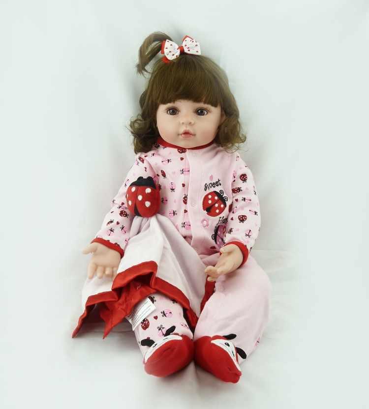 Кукла новорожденная NPK, 60 см, очень большая, От 6 до 9 месяцев, Реалистичная, силиконовая