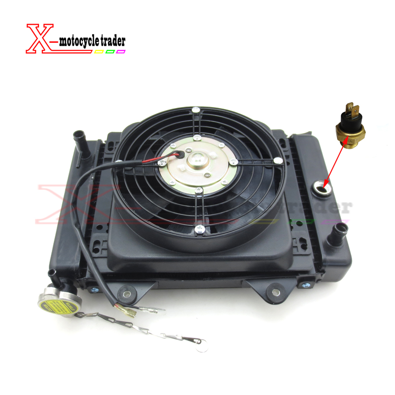 New 150cc 200cc 250cc Water cooling engine cooler Radiator cooling & 12v FAN FOR moto Quad 4x4 ATV UTV parts delta 12038 12v cooling fan afb1212ehe afb1212he afb1212hhe afb1212le afb1212she afb1212vhe afb1212me