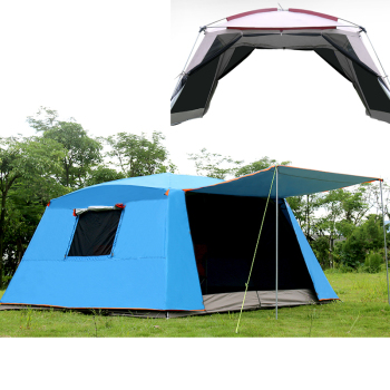 Double layer Outdoor sun-shading tent/4Corners garden arbor/Multiplayer leisure party camping tent send one pair of the poles 2015 new style high quality double layer untralarge one hall one bedroom family party camping tent