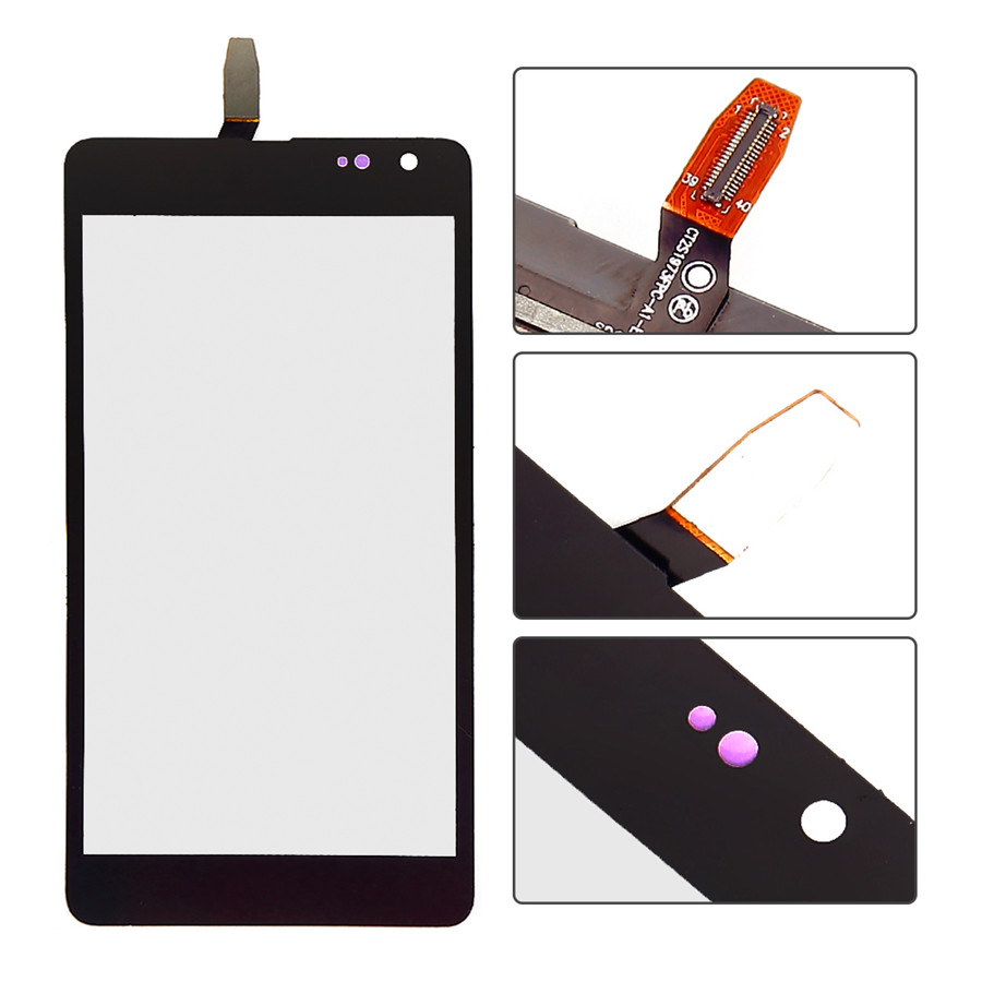"5.0"" For Nokia Lumia 535 2S Version CT2S1973FPC-A1-E Front Glass Touch Screen with Digitizer Replacement"