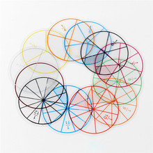 12 шт. пластиковые пронумерованные фракции круги математические фишки Математика номер игрушки Математические Игрушки