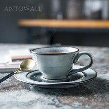 ANTOWALL кофейная треугольная чашка ледяная трещины глазурь послеобеденный чай керамическая посуда Питьевая утварь чашка и блюдце набор бытовой
