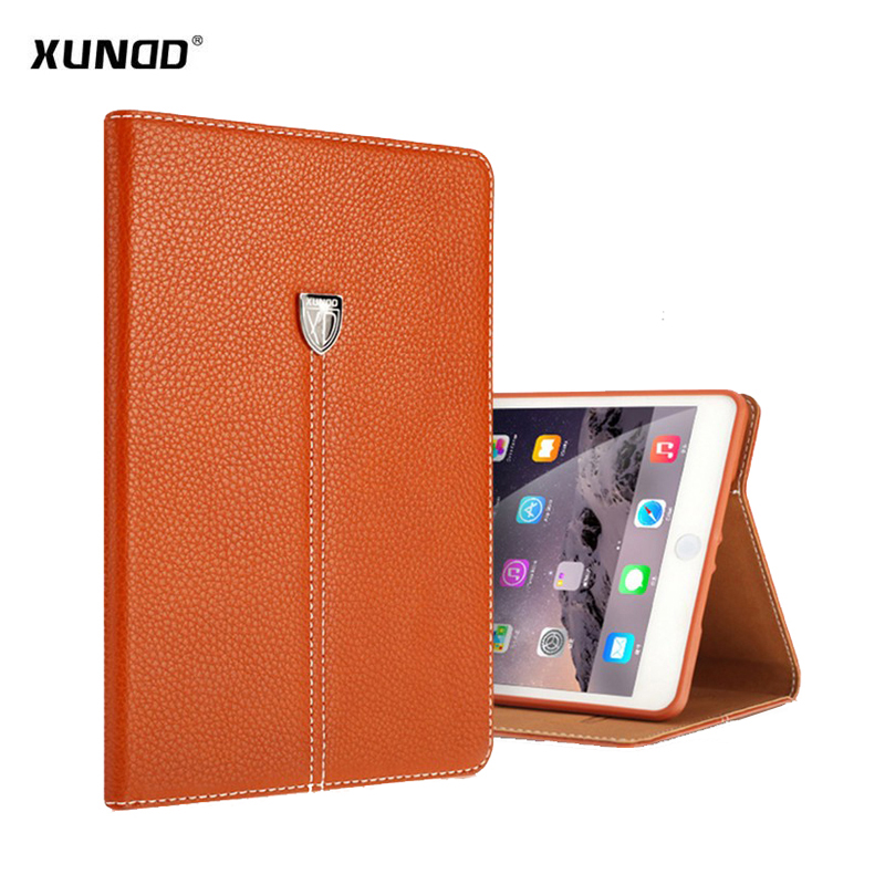 Case For iPad mini 4 cover Xundd Luxury PU Leather Shockproof case for iPad Mini 4 mini4 Stand Flip Case with card slots protective pu pc flip open case cover for ipad mini red