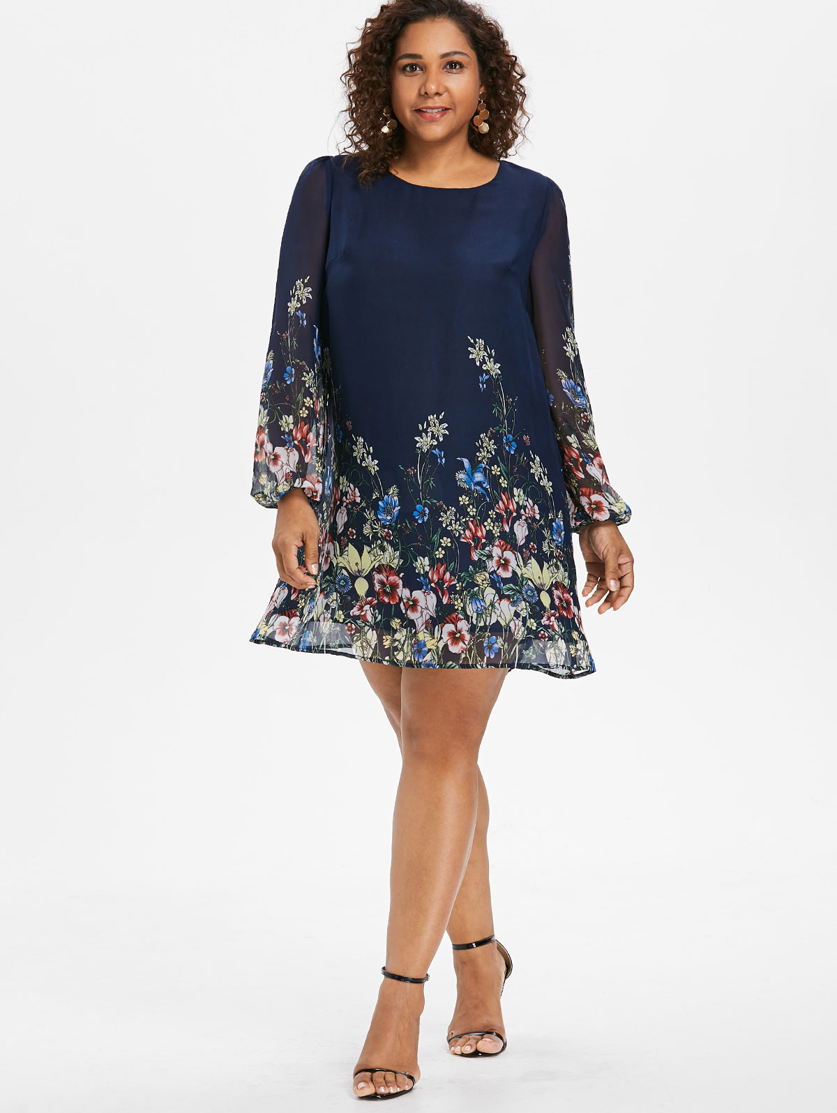 SUMMER SHORT SLEEVE FLORAL MULTICOLORED MINI DRESS//TUNIC LONG TOP PLUS SIZE 721