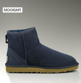 The Superior quality women's snow boots in Europe in 2019, real sheepskin, 100% natural wool, women shoes 10 colors