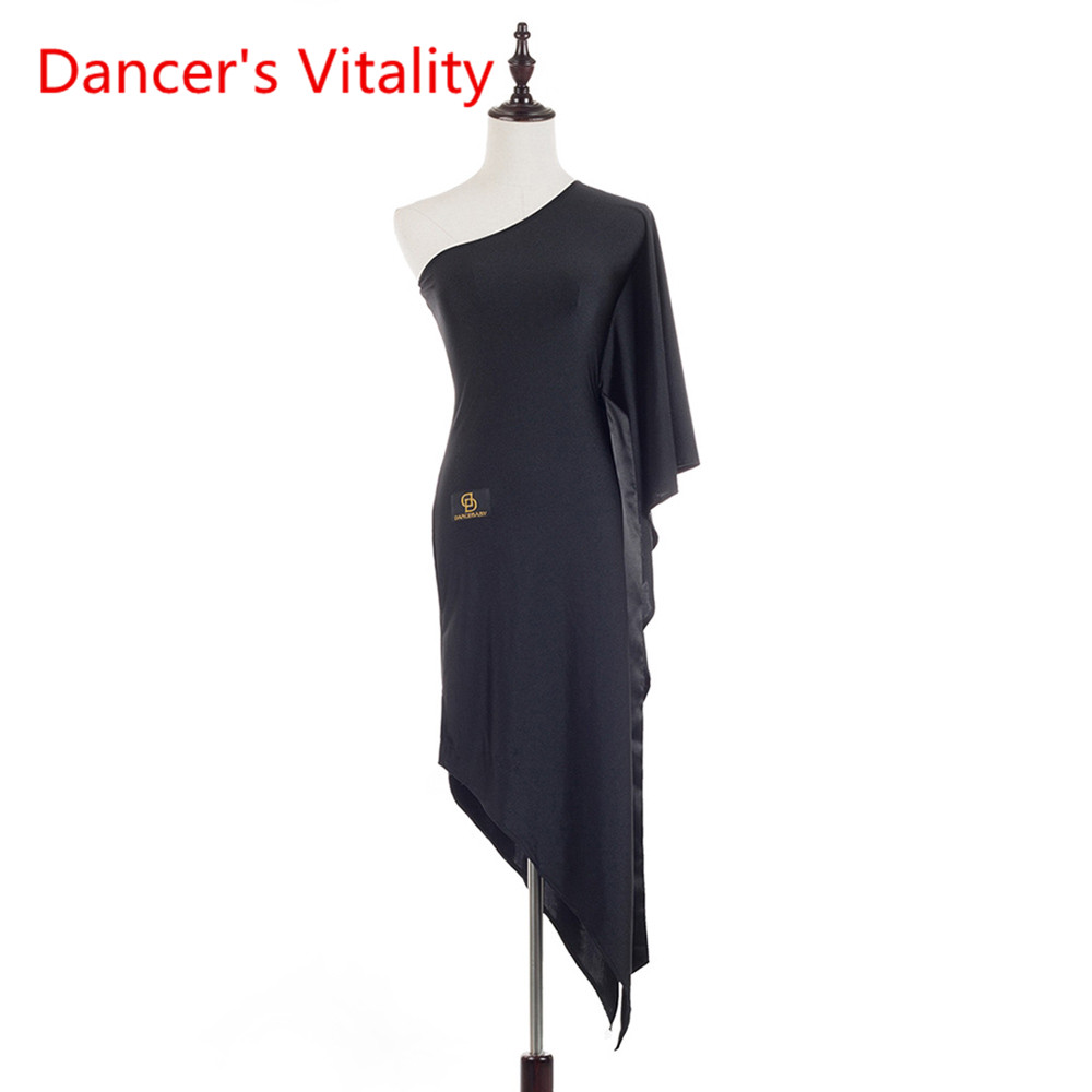 New Hot Sale Latin Dance Dress For Ladies Black Silk Backless Skirt Beautiful Women Fashionable Lady Ballroom Prom Dresses