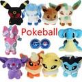9pcs Pokeball Plush Toy Pokeball Eevee Family Movies & TV Plush Toy Doll 9 Dolls Soft Stuffed Animals & Plush Kids Gift Pokeball
