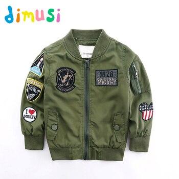 DIMUSI printemps vestes pour garçon manteau armée vert Bomber veste garçon coupe-vent automne veste Patchwork enfants enfants veste BC004