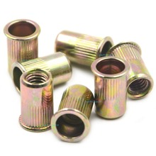 цена на 50pcs M6 Normal Head Rivet Nut Threaded Multi Blind Rivnut Insert Nutsert Steel