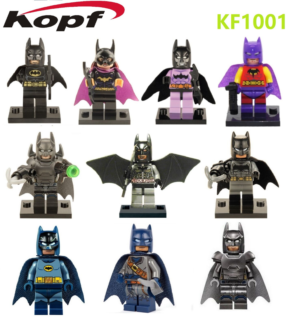 KF1001 Building Blocks Super Heroes Single Sale Batman Batwoman Batgirl Assemble Star Wars Bricks Children Gift Toys xh 287 super heroes avengers single sale antman building blocks assemble blocks bricks model children bricks toys