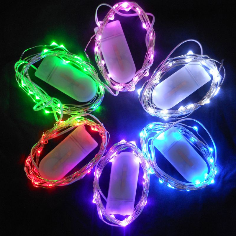 Led Copper Wire String Lights Cr2032 On Cell Battery Rice Light 2m 20led Fairy For Christmas Wedding Decoration In From