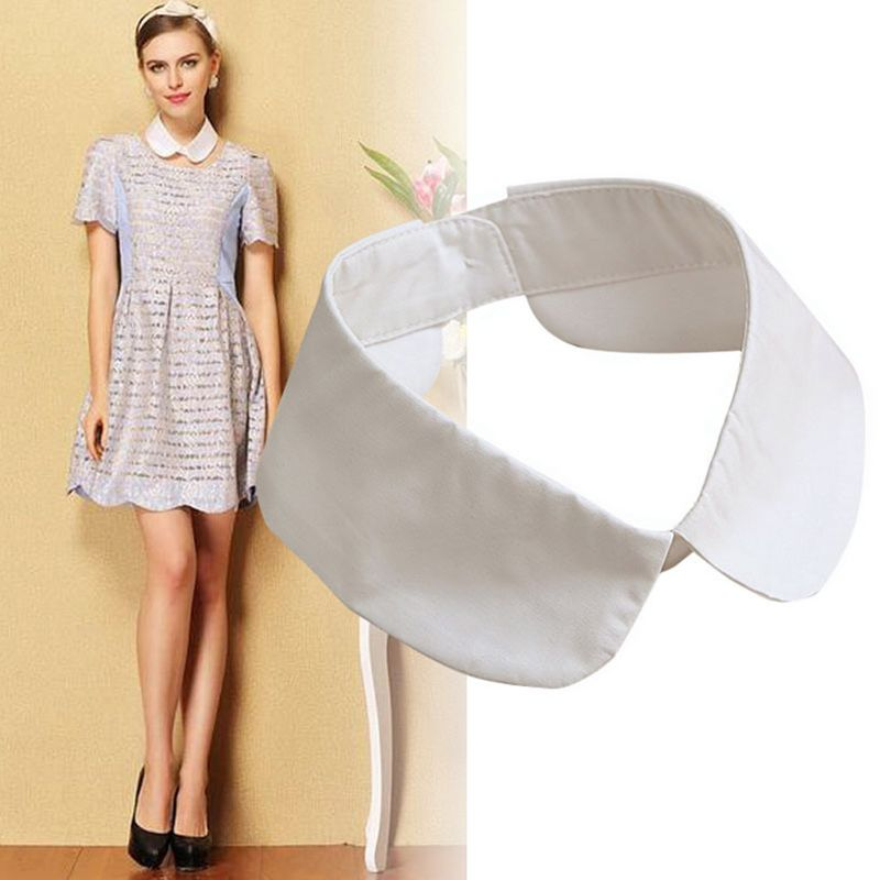 Classic Collar Shirt Fake Collar Tie Vintage Detachable Collar False Collar Lapel Blouse Top Women/Men Clothes Accessories