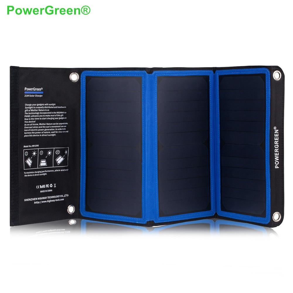 PowerGreen Solar Power Bank 21 Watts Foldable Solar Charger Umbrella Solar Cell Solar font b Battery