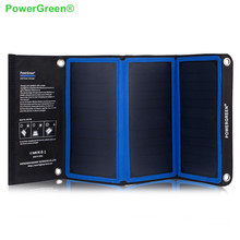 PowerGreen Solar Power Bank 21 Watts Foldable Solar Charger Umbrella Solar Cell Solar Battery Backup Bag for Hiking for Cycling