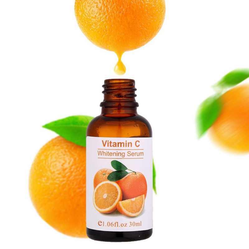 Suero de esencia de vitamina c líquido para manchas faciales/eliminación de pecas iluminación cicatrices de acné Anti-envejecimiento antiarrugas control de aceite de esencia VC
