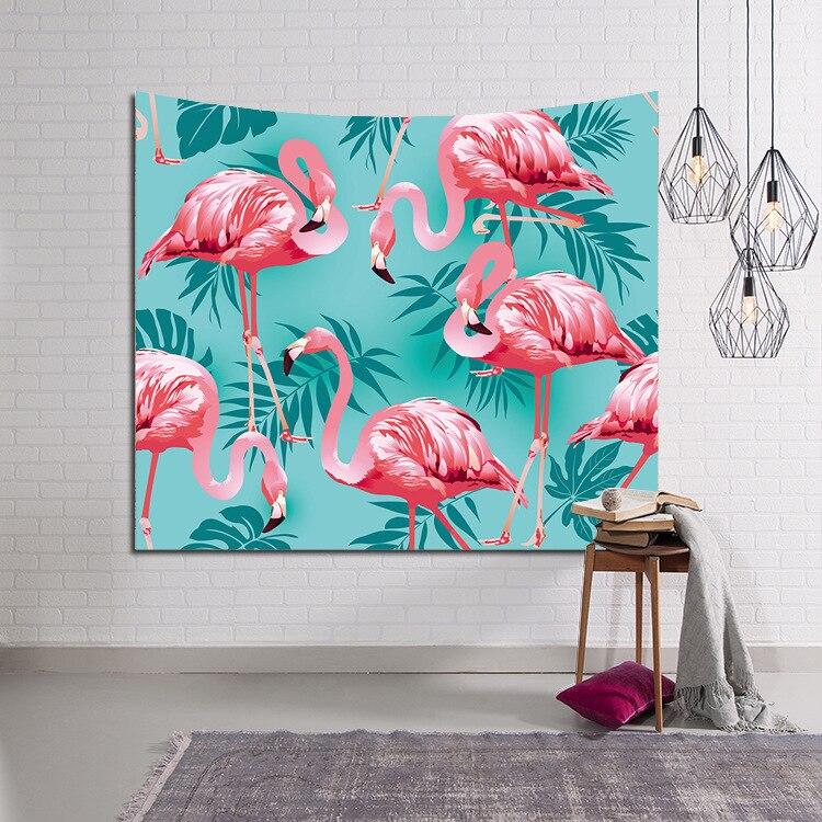 Beducht Hawaii Flamingo Muur Opknoping Wandtapijten Home Decoratieve Deur Woonkamer Sprei Vel Strand Tafel Doek Bruiloft Achtergrond