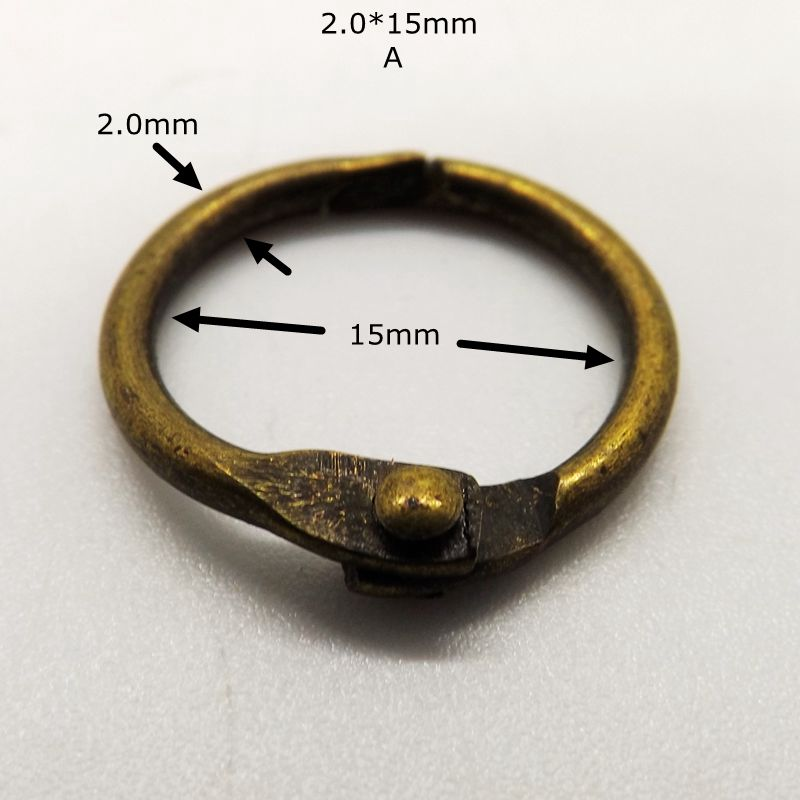 Eco Friendly Binding Ring Antique Metal Ring 10pcs/package