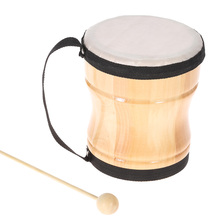 Toy Percussion-Instrument Drum Bongo Musical Stick-Strap Hand Wood with Kids Children