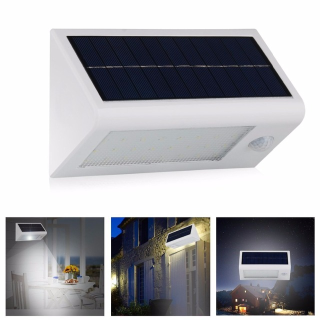 20PCS Solar Wall Lamp Wiress Motion Human Body Sensor 20LED Spotlight  Nightlight Outdoor Home Garage Building