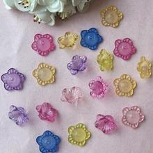 1100pcs 9*17mm Beautiful  Acrylic Mixed Flower Beads With Hole For Hair Peice Tiaras Jewelry  Scrapbooking Craft DIY