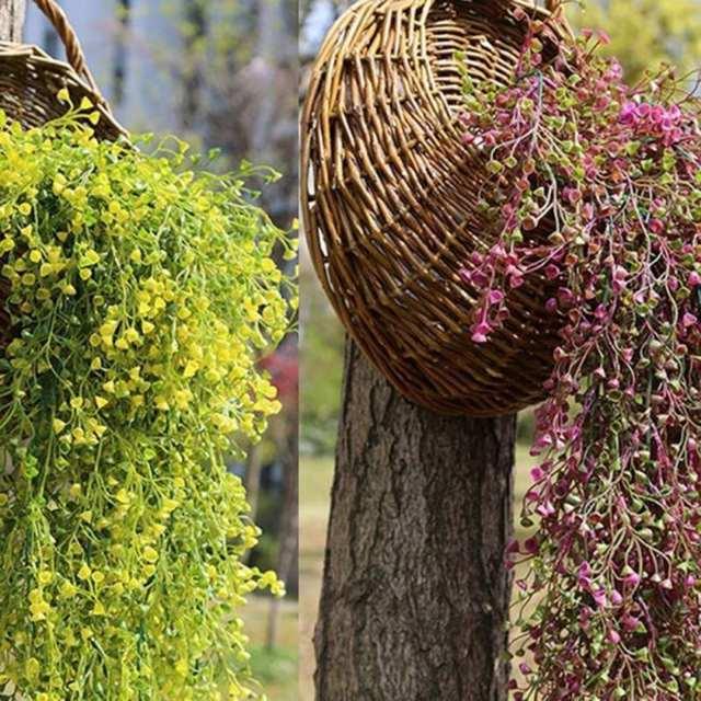 Bunga buatan String untuk Pesta Pernikahan Hari valentine Buatan  Menggantung Tanaman Pot Basket Indoor Outdoor Garden ca8108dff3