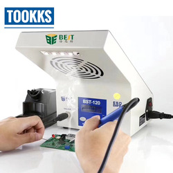 3 w 1 BST-120 LCD cyfrowa stacja lutownicza żelazko z pochłaniacz dymu z oświetleniem Led