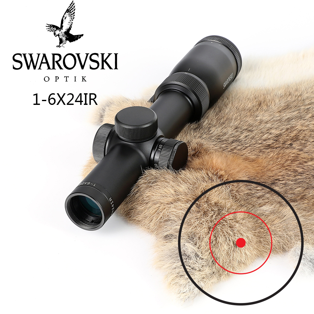 Imitação Swarovskl Riflescope 1-6x24IRZ3 Pontuar Diferenciação F15 ou F101 Círculo Dot Vista Rifle Scope Vidro Made In China