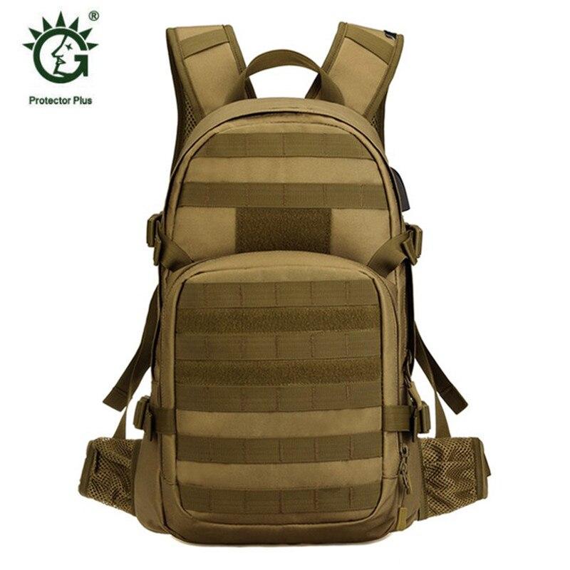 Nouveau sac homme loisirs militaires nylon étanche sac à dos de 25 litres double sac à bandoulière câble de données sac à dos rechargeable. - 2