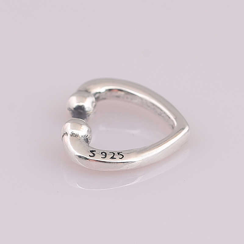 9ff7921bc ... Authentic 925 Sterling Silver Earring Open Heart Ear Cuff Earring For  Women Wedding Gift Pandora Jewelry