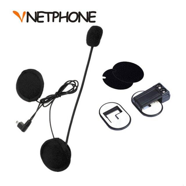 Limitada Capacete Casco Mini Usb Jack micrófono altavoz auriculares y intercomunicador del Casco de Clip para Vnetphone V2-500 V2-1200