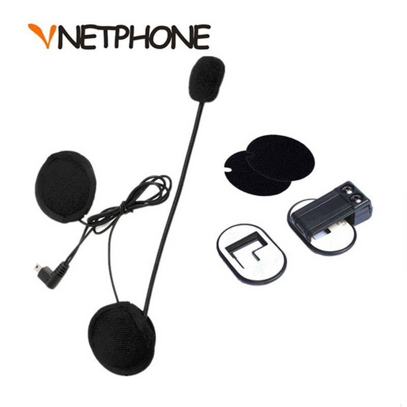 Limited Capacete Casco Mini Usb Jack Microphone Speaker Headset And Helmet Intercom Clip For Vnetphone V2-500 V2-1200