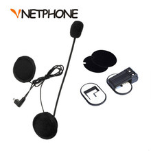 limited Capacete Casco Mini Usb Jack Microphone Speaker Headset And Helmet Intercom Clip for Vnetphone V2-500 V2-1200(China)