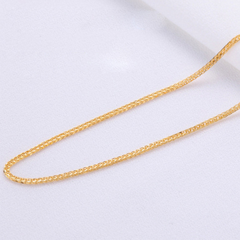 ANI 18K Yellow Gold (AU750) Chain Necklace for Women Engagement Three Color Fine Chopin Chain for Pendant 16 inches or 18 inches 1