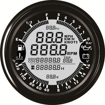 1pc Più Nuovo Stile 6 In 1 Multifunzione GPS Tachimetro Contagiri Indicatore Del Carburante Manometro Dell'olio Acqua Temp Gauge Voltmetro