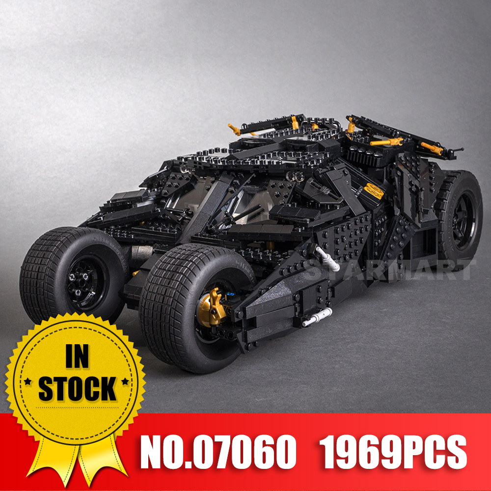 LEPIN 07060 Genuine Super Hero Movie Series The Batman Armored Chariot Set 76023 Educational Building Block Brick Boy Toys Gifts
