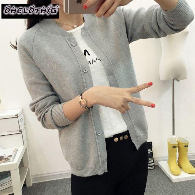 OHCLOTHING Female cardigan Autumn dress sweater 2021 new spring autumn winter jacket coat primer cardigan 2