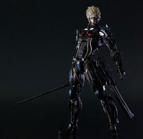 Play Arts Kai Metal Gear Solid Metal Gear Rising Revengeance Raiden Figure 27cm Play Arts PVC Action Figure Doll Toys Kids Gift metal gear solid v the phantom pain play arts flaming man action figure super hero