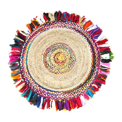 Bohemian Round Carpet Jute 120cm Mawgie