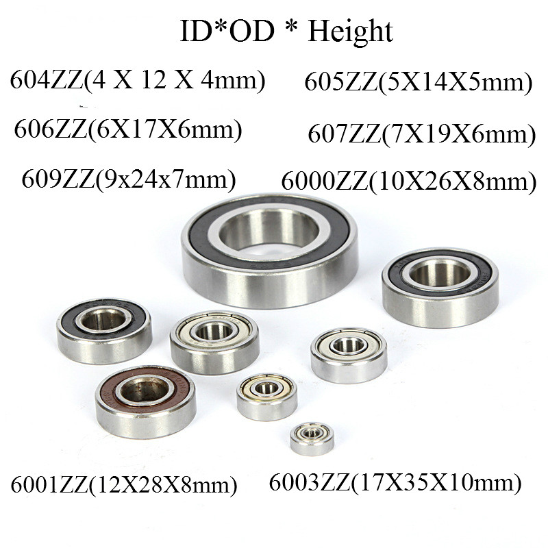 Deep Groove Ball Bearing Metal Shielded Miniature Ball Bearing 604 605 606 607 609 6000 6001 6003 ZZ