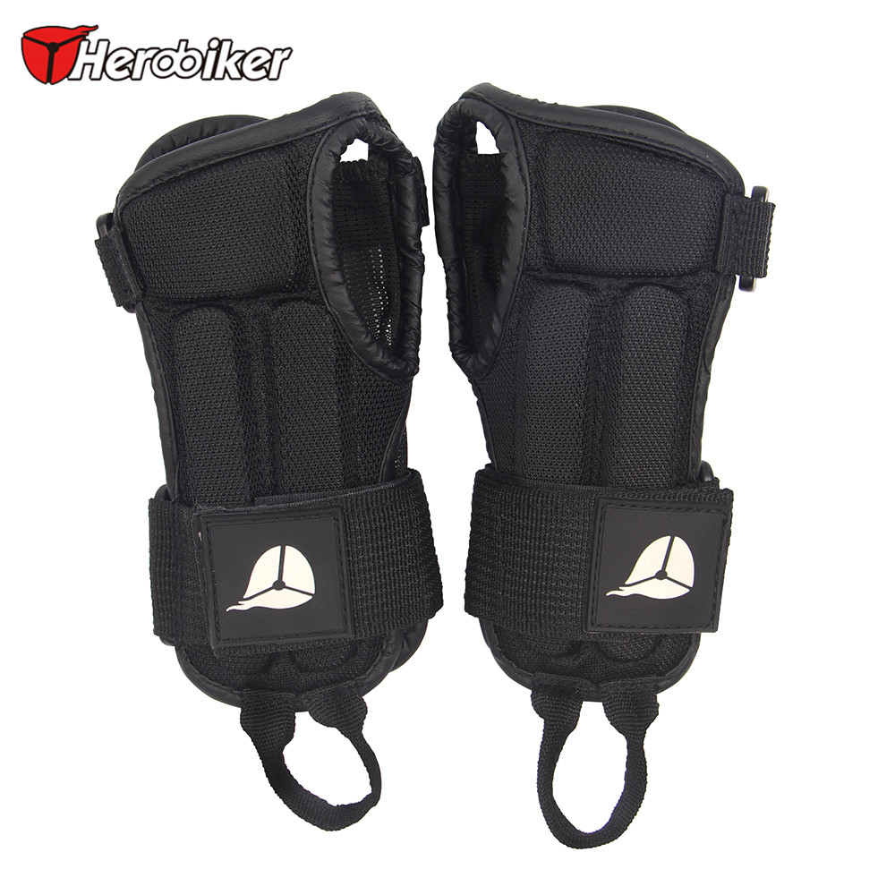 Motorcycle gloves palm protection - Herobiker Lycra Sports Hand Protector Eva Protective Padder Motorcycle Skiing Armguard Wrist Support Palm Padded Hand