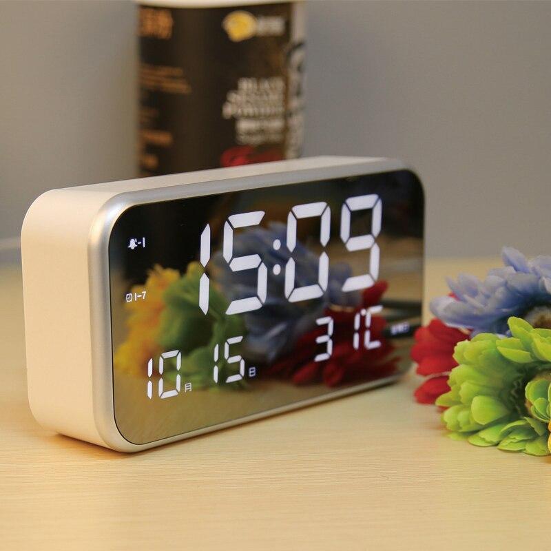 #a modern Clocks Mute Originality turn alarm clock Simple circular Bedroom Desk Table Clock Living Room Decoration Candy Color