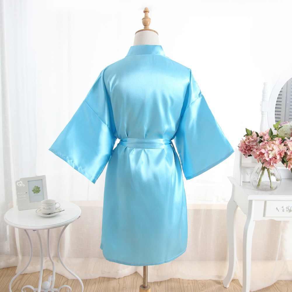 2f2410d1fa ... Hot Women robe Silk Satin Robes Wedding Bridesmaid Bride Gown kimono  Solid robe One size fit