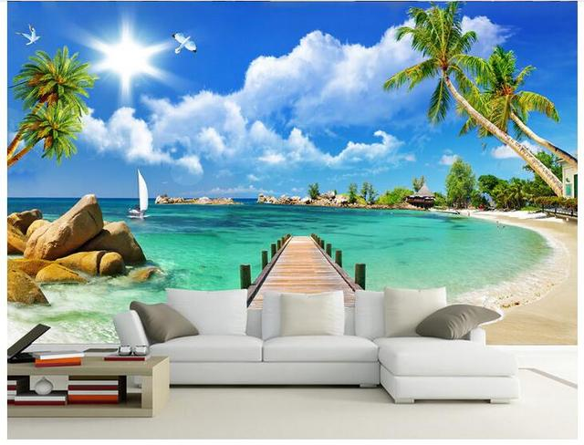 3d Wallpaper Custom Photo Woven Mural Wall Sticker 3 Wooden