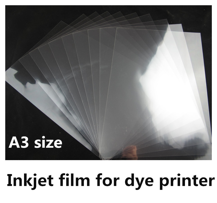 A3 Size Waterproof Transparent Frosted Inkjet Film Sheets