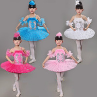 2016 New Arrival Children Ballet Tutu Dress Swan Lake Multicolor Ballet Costumes Kids Girl Ballet Dress