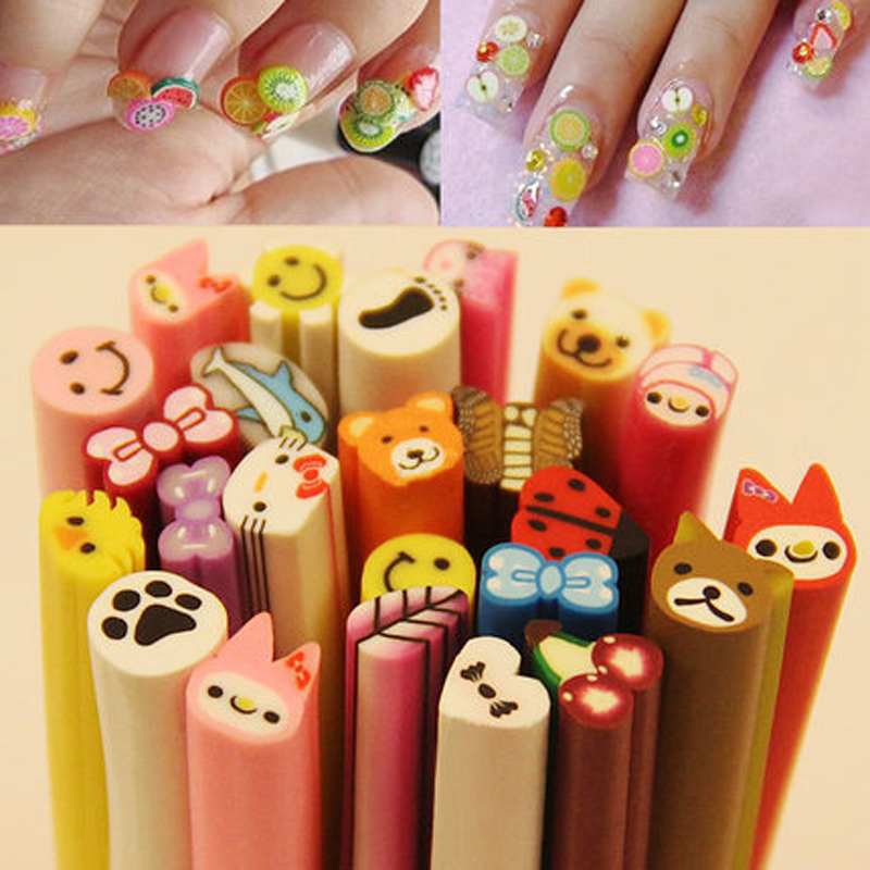 Nail Art Act The Role Ofing Article Soft Clay Cartoon Fruit Diy