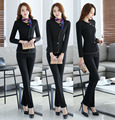 Plus Size 3XL Slim Fashion 2016 Professional Formal Career Work Suits Female Pantsuits With Jackets + Pants Ladies Trousers Sets