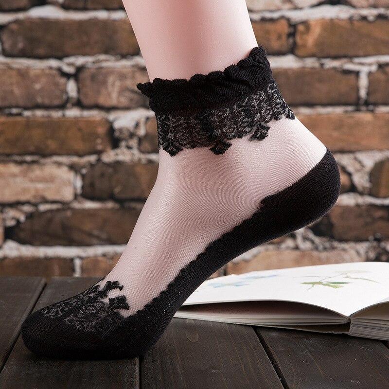 Auschecken Detaillierung Spitzenstil US $11.04 15% OFF|10 Pairs Fashion Sexy Frauen Socken Damen Sommer Nylon  Socken Kurze Spitze Frauen Weibliche Transparente Socken & Strumpfwaren-in  ...