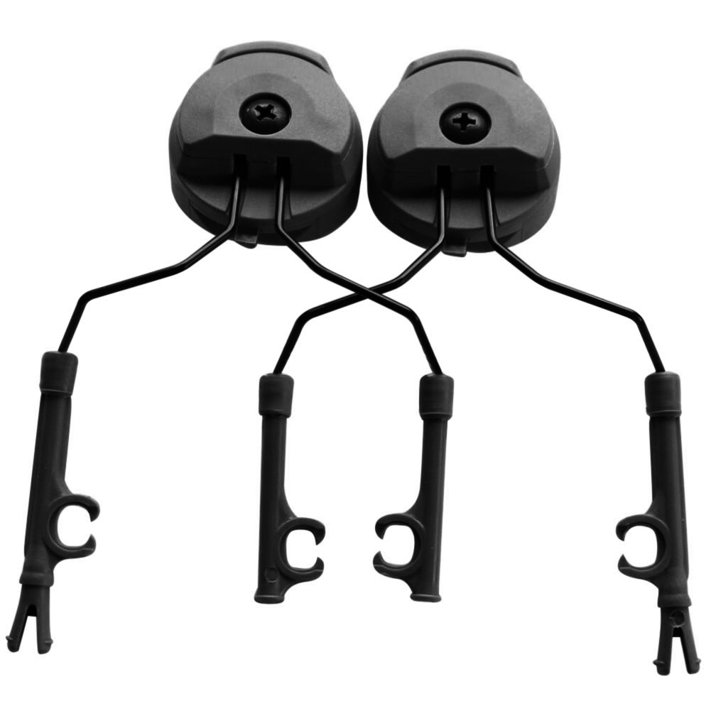 1 Pair Headphone Bracket Headset Holder Helmet Rail Adapter Durable Accessories YS-BUY image